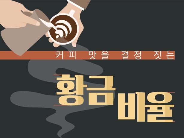 """""""따뜻하게 즐기세요"""" 커피 맛을 결정짓는 황금 비율 [인포그래픽]"""