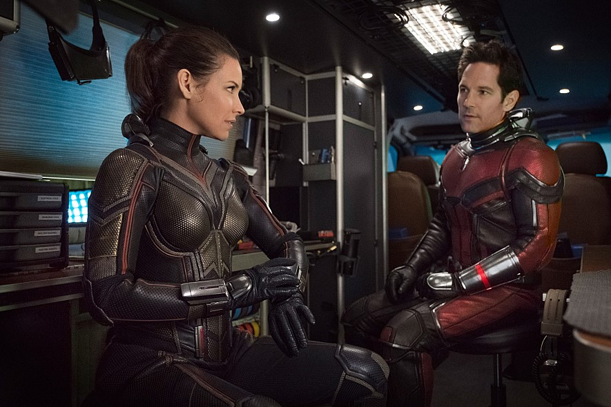 Evangeline Lilly and Paul Rudd in Ant-Man and the Wasp. Marvel Studios.