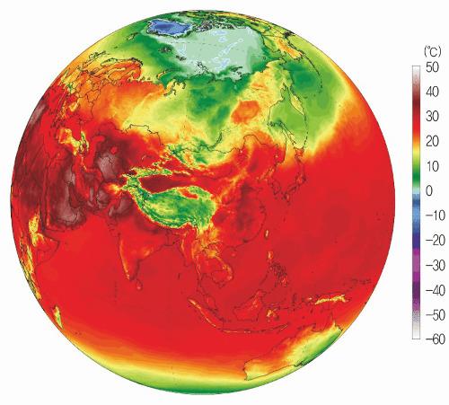 (사진=미국 메인대 기후변화연구소 '오늘의 기후지도')